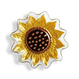 Demdaco 2020170221 Sunflower Shaped Plate - 11x11