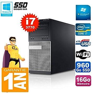 Dell PC Torre 7010 Core i7 - 3770 RAM 16 GB Disco 960 GB SSD WiFi ...