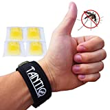 #9: Mosquito Repellent Bracelet (4x refill) by TantiQ - Safe, Natural Pest Control - DEET Free Indoor or Outdoor Insect Control - Kid Safe Insect Repellant - Waterproof, Adjustable Design