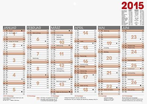 Glocken Tafelkalender 29,7x21 cm 6 Monate/1 Seite Kalendarium 2014