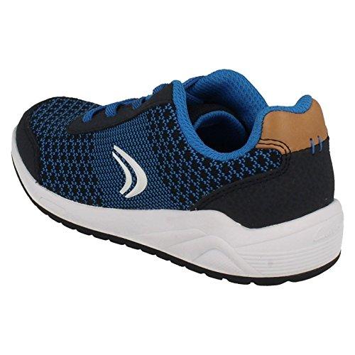 Clarks Frisbyrise Jnr, Zapatillas para Niños Azul (Navy Combi)