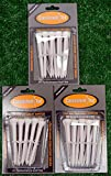 3 Consistent Tee 3 1/4'' Golf Tee Packs - White