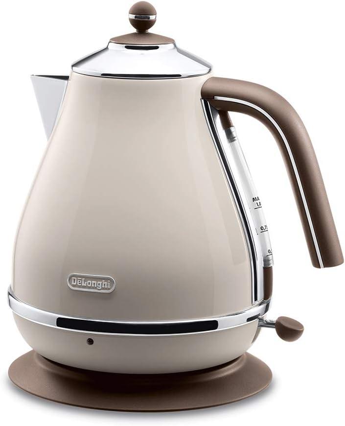 Delonghi Electric kettle (1.0L)「ICONA Vintage Collection」KBOV1200J-BG (Dolce Beige)【Japan Domestic genuine products】