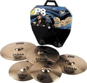 sabian b8 rock cymbal set with case musical instruments. Black Bedroom Furniture Sets. Home Design Ideas