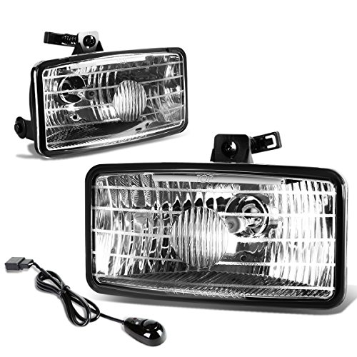 For Chevy S10 Xtreme GMT325 Pair of Bumper Driving Fog Lights + Wiring Kit + Switch (Clear Lens)