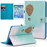 iPad Mini Case, Dteck(TM) Slim Fit Cute PU Leather Flip Stand Wallet Case with Auto Sleep/Wake Function Smart Cover for Apple iPad Mini 1 2 3 (02 Flying House)