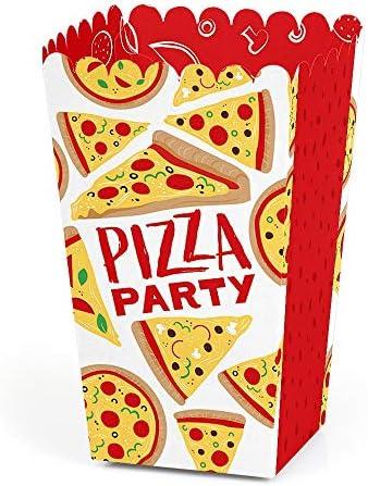 ピザパーティータイム - ベビーシャワーまたは誕生日パーティーの景品 ポップコーンおやつボックス - 12個セット