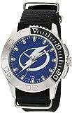 Game Time Men's 'Starter'  Metal and Nylon Quartz Analog  Watch, Color:Black (Model: NHL-STA-TB)