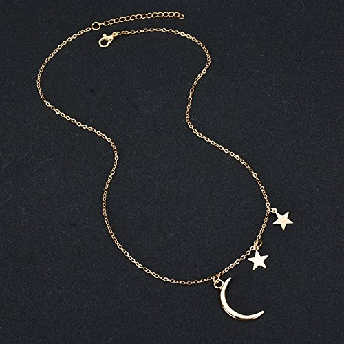 Etgu Gold Choker Necklace Moon Star Women Girl Necklaces /& Pendants Fashion Jewelry