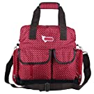 ECOSUSI Diaper Backpack Diaper Bags Baby Bags Large Capacity (Red star)