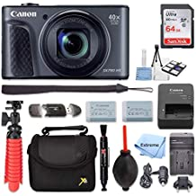 Canon PowerShot SX730 HS Digital Camera (Black) + 64GB Memory Card + Point & Shoot Case + Flexible Tripod + USB Card Reader + Lens Cleaning Pen + Cleaning Kit + Full Accessory Bundle