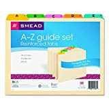 Smead Heavyweight File Guides, Multi-Colored Fused
