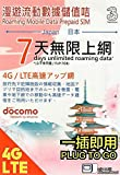 Japan Docomo Data Sim with 7GB High Speed Data for 7Days