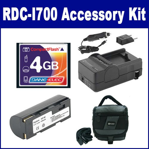 Ricoh RDC-i700 Digital Camera Accessory Kit includes: T44655 Memory Card, SDNP80 Battery, SDC-27 Case, SDM-144 Charger