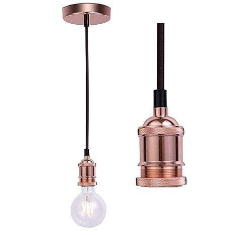 ALIYAYA lámpara de techo vintage lámpara de araña industrial ...
