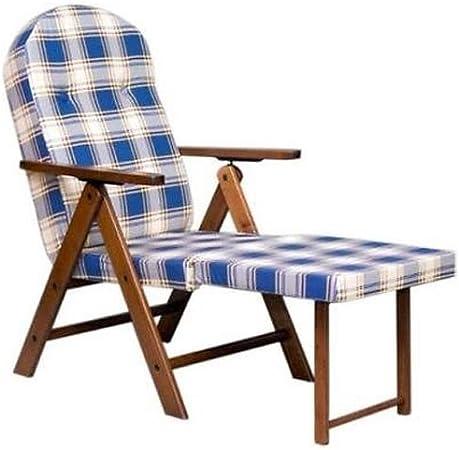 Sedie A Sdraio In Legno Imbottite.Poltrona Sedia Sdraio In Legno Con Cuscino Relax Imbottito E