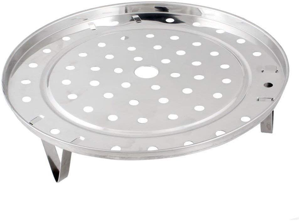 Steaming Rack Household Stainless Steel Cooking Ware Thickened Steaming Rack Stand (9 inch)