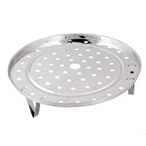 Steaming Rack Household Stainless Steel Cooking Ware Thickened Steaming Rack Stand (10 inch)