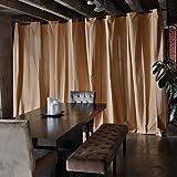 RoomDividersNow Muslin Freestanding Room Divider Kit - Medium B, 9ft Tall x 12ft 6in - 25ft Wide (Wheat)