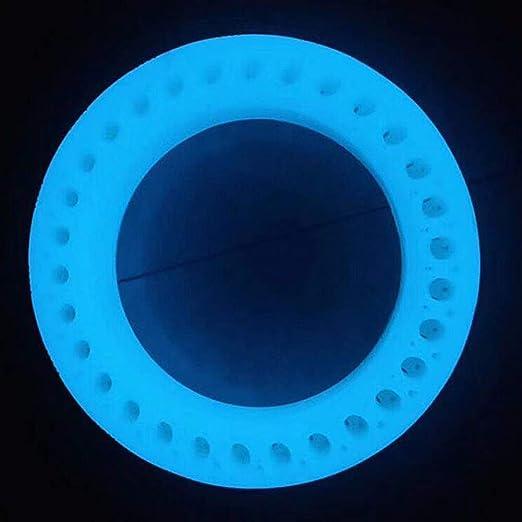 Matedepreso Inflar Neumático Gratis Luminoso Fluorescente Resistente Estable para Xiaomi Escúter M365 (Azul)