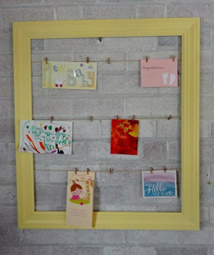 Renewed Décor Colonial Trim Clothesline Picture Frame, Available in 25 Colors. Mini Clothes Pins Included Free]()