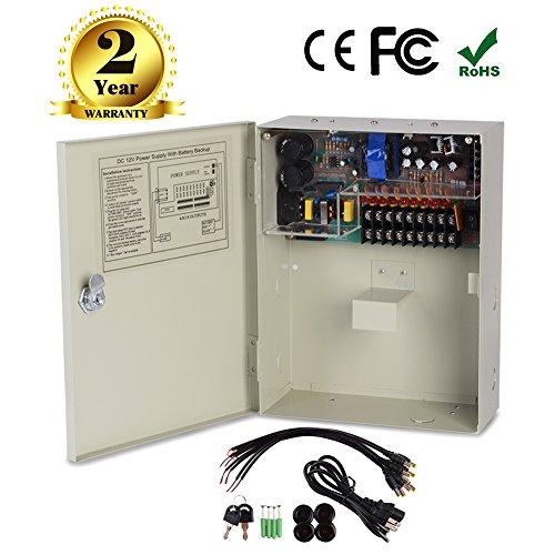 18CH Seguridad Fuente de alimentación Caja de interruptor de salida CC 12V 10A para cámara de seguridad CCTV Sistema...