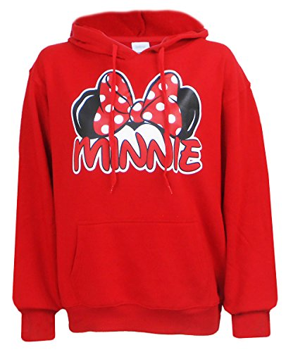 (Disney Exclusive Adults Minnie Mouse Fleece Hoodie Red Medium)