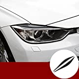 Carbon Fiber Front Headlight Eye Lid Eyebrow Cover Trim for BMW 3 Series F30 F31 2013-2018
