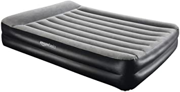 Amazon Basics Pillow Rest Single Size Premium Airbed with Built in Air Pump (EU)