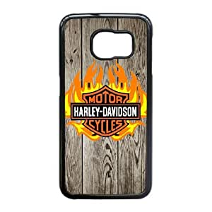 Harley Davidson For Samsung Galaxy S6 Edge Cell Phone Case Black ADS085828