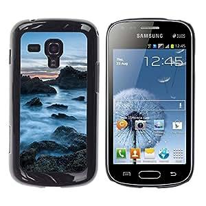 // PHONE CASE GIFT // Duro Estuche protector PC Cáscara Plástico Carcasa Funda Hard Protective Case for Samsung Galaxy S Duos S7562 / Rocas Nubladas /