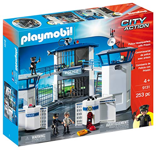 PLAYMOBIL Police Headquarters with Prison (Renewed) (Playmobil Headquarters)