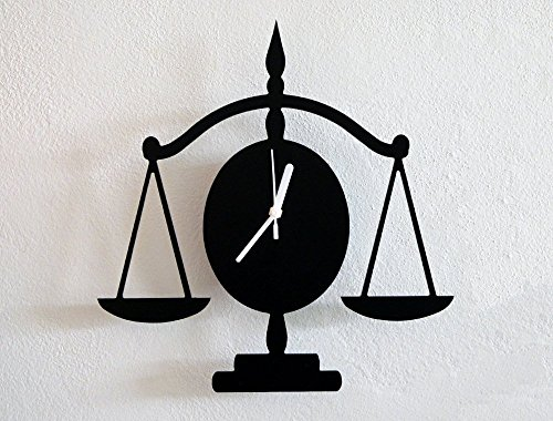 (Libra Law Silhouette - Wall Clock)