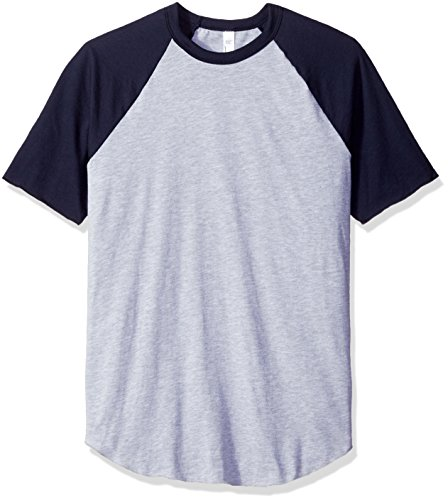 american-apparel-mens-50-50-raglan-t-shirt-heather-grey-navy-large