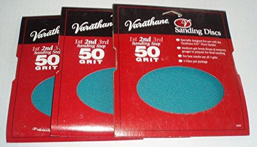 Varathane Sanding Disc (Set of 3-total of 9 disc) Step 2 Medium - Sanding Ezv Discs