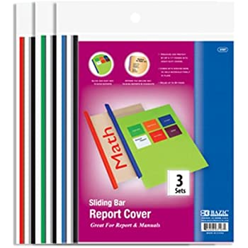 Oxford Clear Front Report Covers Letter Size Assorted Colors