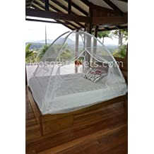 Pop up Freestanding Mosquito Net | Easily adjustable to fit King to Full size beds | Secure insect protection.