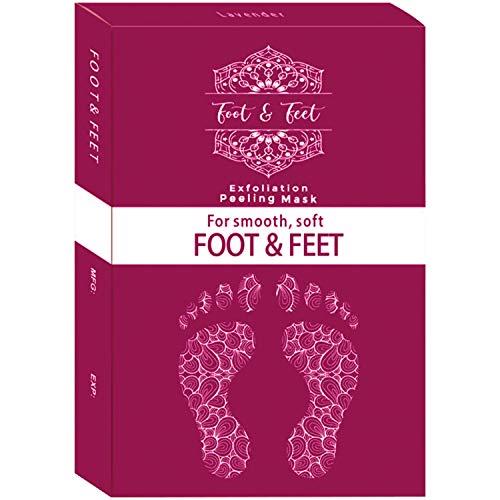 Exfoliating Foot Peel Mask - Deep Exfoliation for Feet, Foot Mask for Calluses, Foot Peel Repairing Dead Skin Cells, 1 Box Foot Peel Mask, 2 Pairs Baby Foot Peel Booties