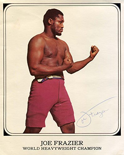 Joe Frazier Boxer - Joe Frazier (+) BOXER autograph, signed publicity photo