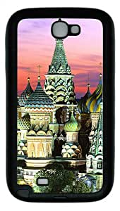 Samsung Galaxy Note II N7100 Case,Kremlin Building TPU Custom Samsung Galaxy Note II N7100 Case Cover Black