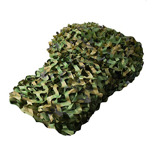 Camouflage Sunshade Net Camo Netting Blinds for Camping Shooting Hunting (1.5x2M=5x6.6ft, Woodland Camo)