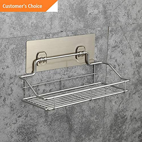 Werrox Hot Metal Shelf Shower Basket Bathroom Wall Mounted Storage Rack Adhesive US | Model SHLFBSKTS - 45 | Small