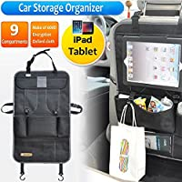 TETC Car Storage Fancy Backseat Organizer For iPad Tablet Red