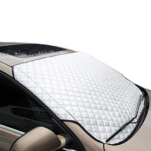MATCC Car Windshield Snow Cover Ice Removal Windshield Protector Sun Shades with Cotton Thicker Snow Protection Cover Fits Most of Car