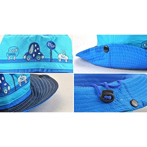ddc67f8440620 Roffatide Car Embroidery Boys Bucket Hat Packable Fishing Sun Hat ...