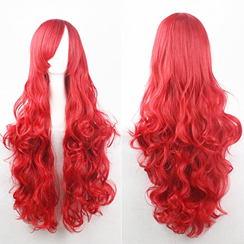 100 cm red wig - 9