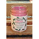 HAPPINESS Aromatherapy Soy Candle with 100% Pure Essential Oils of Lavender, Grapefruit, Rosemary & Patchouli