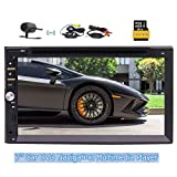 2018 Eincar Newest Model 7 inch Double Din in Dash Car DVD Player with Capacitive Touch Screen 1080P Support Bluetooth FM/AM/RDS Radio Tuner Audio subwoofer Colorful Button
