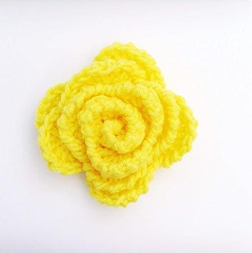 Amazon lemon zest yellow flower brooch pin me2designs lemon zest yellow flower brooch pin me2designs handmade crochet fashion mightylinksfo