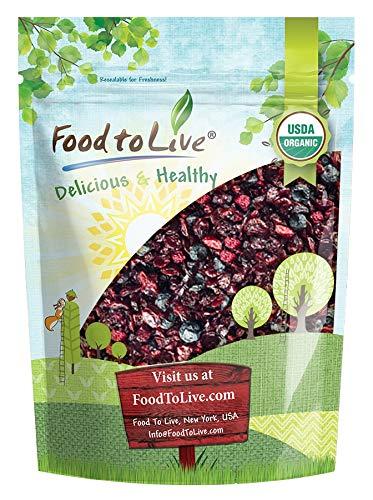Organic Mixed Berries, 1 Pound - Non-GMO Dried Blueberries, Cranberries, and Montmorency Tart Cherries, Kosher, Lightly Sweetened, Unsulfured, Bulk